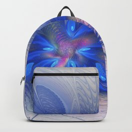 Fantasy With Blue, Abstract Fractal Art Backpack
