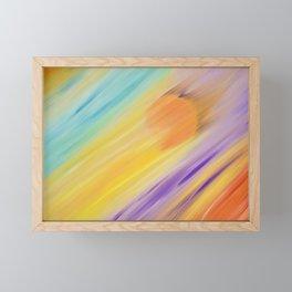 """Catch the Sun #1 – Sequel #1"" Oil Painting Framed Mini Art Print"