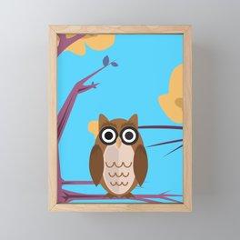 The Wise Owl Framed Mini Art Print