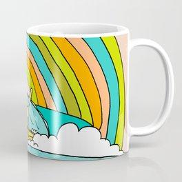 Rad Surf Kitty Tastes the Rainbow Single Fin Longboard Coffee Mug