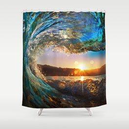 Beach - Waves - Ocean - Sun   Shower Curtain
