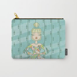 Idolatry in Teal Carry-All Pouch