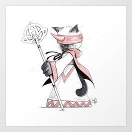 Summoner Siamese Cat Art Print