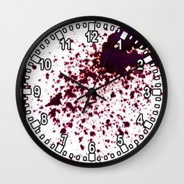 splattering / gravity Wall Clock