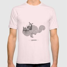 Catcorn Mens Fitted Tee Light Pink SMALL