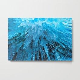 Ice Stalactites Metal Print