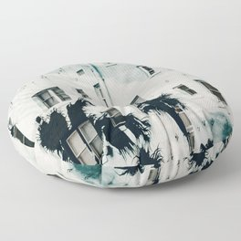 palm mural venice i Floor Pillow