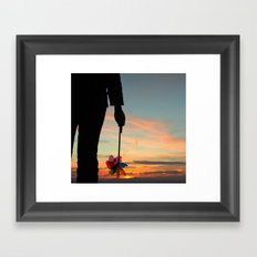 To see which way the wind blows Framed Art Print