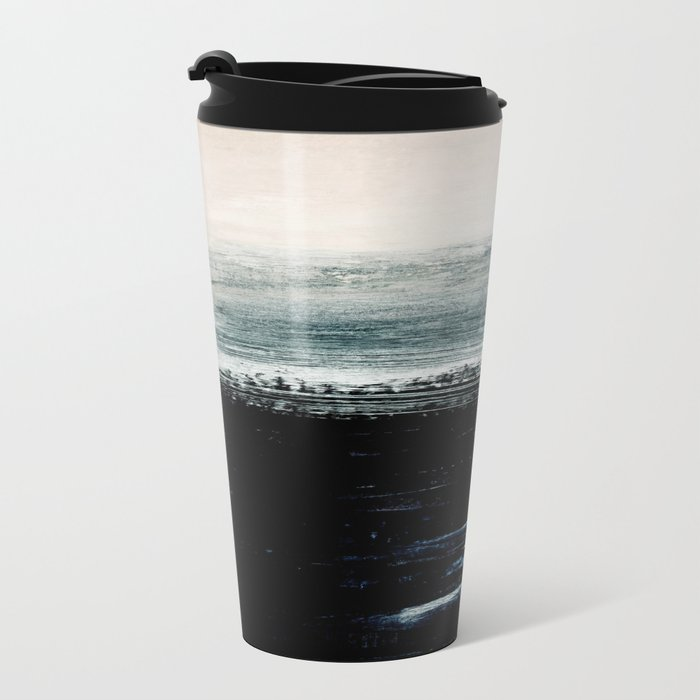 abstract minimalist landscape 3 Metal Travel Mug