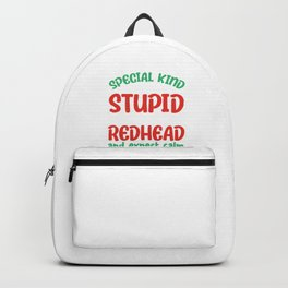 Redhead Freckles Redheads Red Hair Ginger Gift Backpack