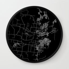Mackay map Australia Wall Clock