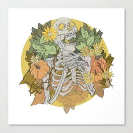 Autumn Skeleton Canvas Print