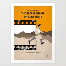 No806 My The Secret Life of Walter Mitty minimal movie poster Art Print