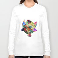 grid Long Sleeve T-shirts featuring grid points by Matthias Hennig