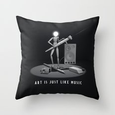 art is just like music Throw Pillow