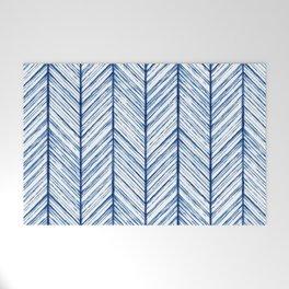 Shibori Herringbone Pattern Welcome Mat