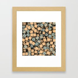 Binary blocks Framed Art Print