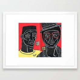 Black - Red - Yellow Framed Art Print