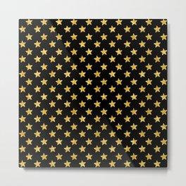 Chic Glam Gold and Black Stars Metal Print