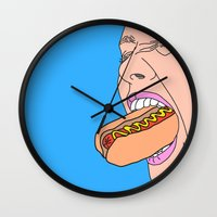 shopping Wall Clocks featuring Shopping by Tyler Spangler