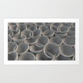 White spiraled coils Art Print
