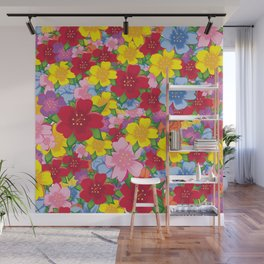 Colorful Flower  Wall Mural