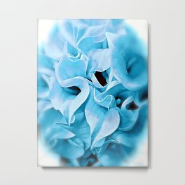 Calla Lilly Icy Blue Metal Print