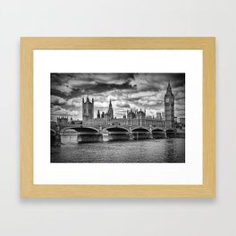 LONDON Houses of Parliament & Westminster Bridge Framed Art Print