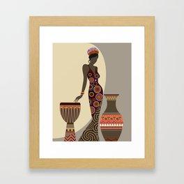 Djembe Queen II Framed Art Print