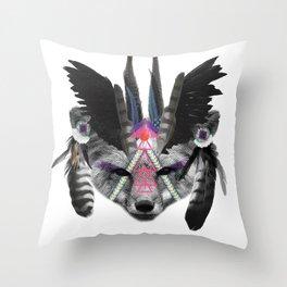 Fox Chief Throw Pillow