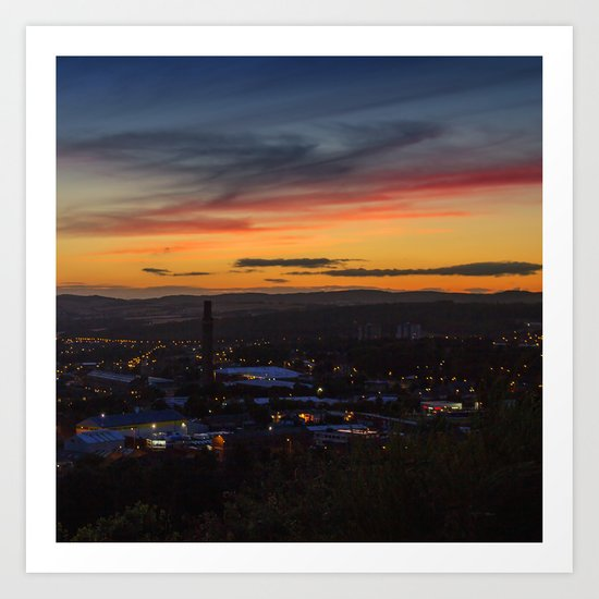 City of Dundee Sunset Art Print