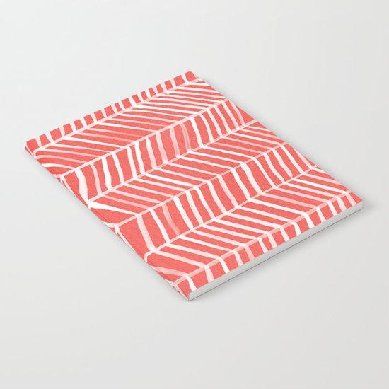 Coral Herringbone Notebook
