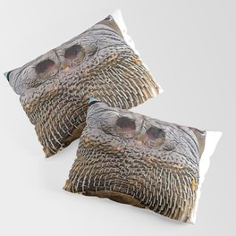 Walrus Face Funny Pipe and Glass Noble Mammal Pillow Sham