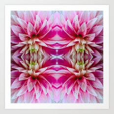 143 - Abstract flowers Art Print