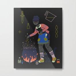 Witch Series: Cauldron Metal Print