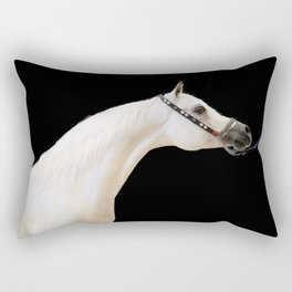 horse collection. arabian white Rectangular Pillow