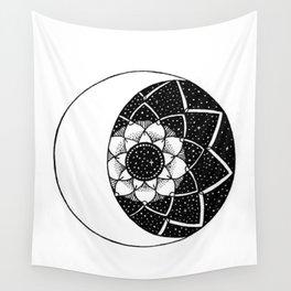 Crescent Moon Mandala Wall Tapestry