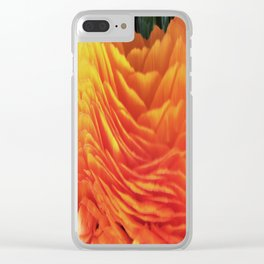 491 - Abstract Flower Design Clear iPhone Case