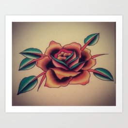 Traditional Rose Art Print