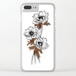 Anemone with ink Clear iPhone Case