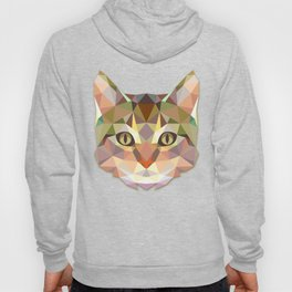 Geometric Cat Face Hoody