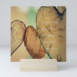 The Voice Of Your Heart Whispers To My Soul - Wind Chimes - Rustic - Wedding - Farmhouse Mini Art Print