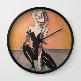 SpiderGwen Wall Clock