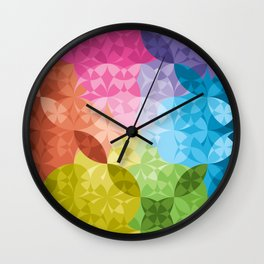 Rainbow Chain Wall Clock