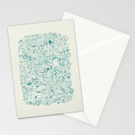 Monster Map Stationery Cards