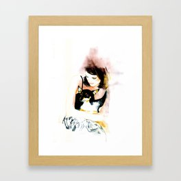 My lovely dog  Framed Art Print