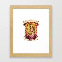 Saint Dolly Framed Art Print