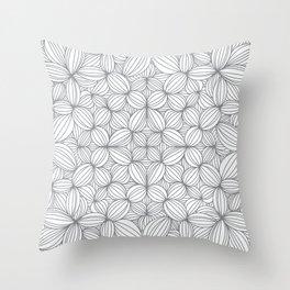 Gray or grey Throw Pillow