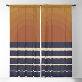 Retro Sunset Blackout Curtain