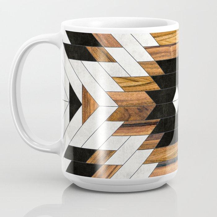 Urban Tribal Pattern No.5 - Aztec - Concrete and Wood Coffee Mug